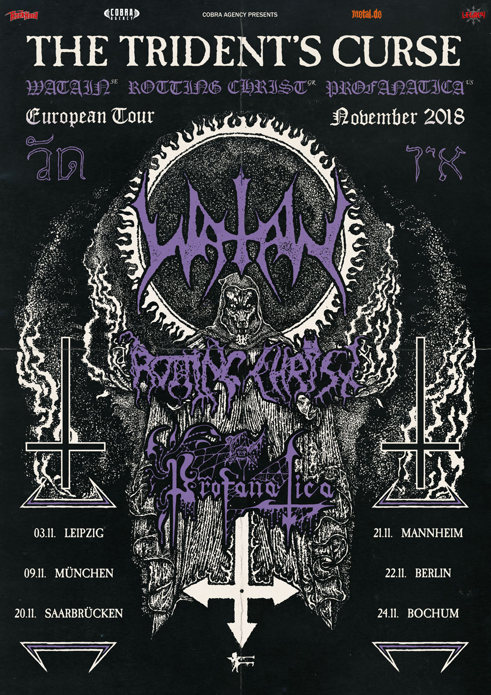 WATAIN, ROTTING CHRIST & PROFANATICA