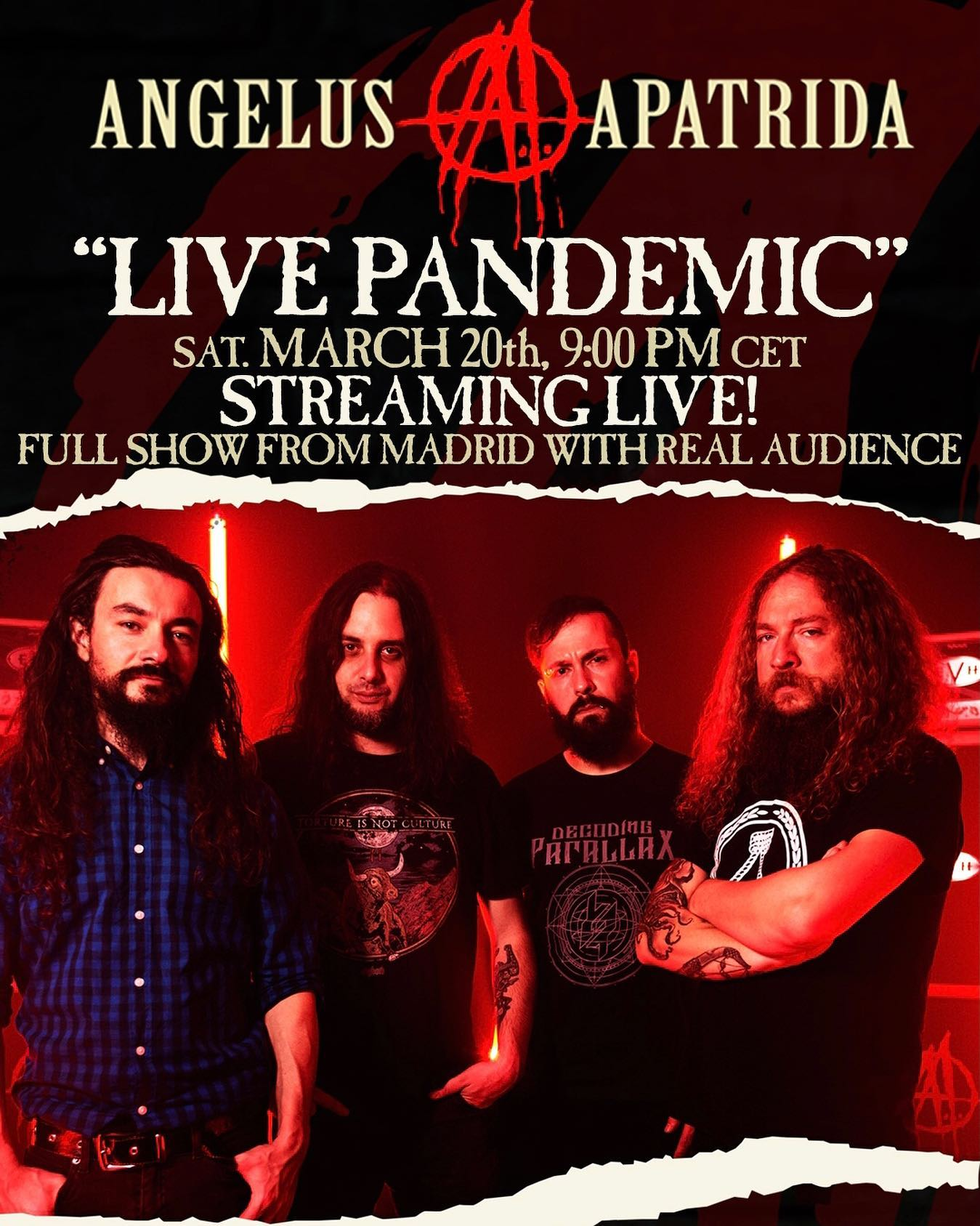 "ANGELUS APATRIDA ""Madrid Live Pandemic"" - La Riviera, Madrid, 20.03.2021"