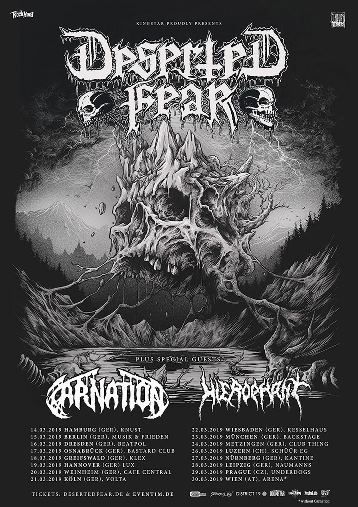 DESERTED FEAR, CARNATION, HIEROPHANT @ Berlin, Musik Und Frieden – 15.03.2019